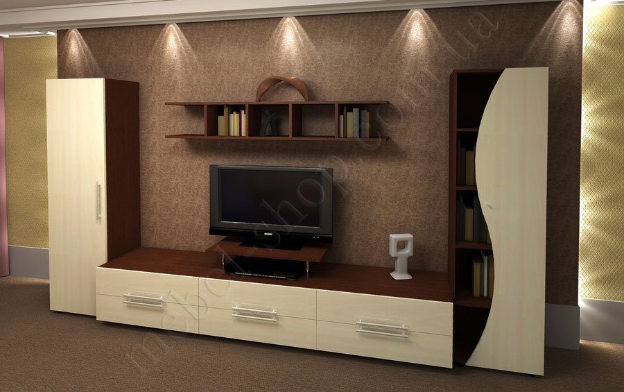 стенка в гостинную серии сирена купить мебель в гостиную серии